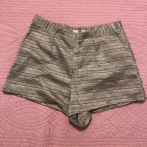 Gold striped shorts